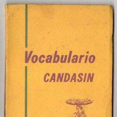Diccionarios de segunda mano: VOCABULARIO CANDASÍN. DAVID PEREZ SIERRA. 1973. CANDÁS. ASTURIAS. ASTURIANO.. Lote 118935903