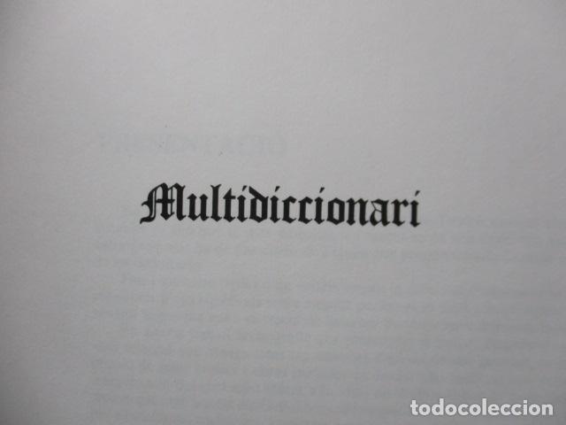 Diccionarios de segunda mano: BIBLIOTECA DEL MIL.LENARI DE CATALUNYA - MULTIDICCIONARI - Foto 8 - 119497399