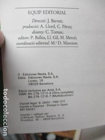 Diccionarios de segunda mano: BIBLIOTECA DEL MIL.LENARI DE CATALUNYA - MULTIDICCIONARI - Foto 10 - 119497399
