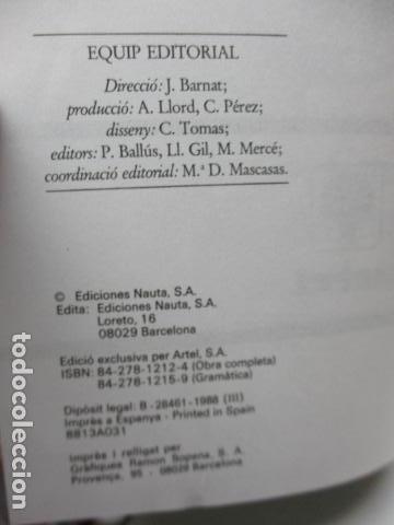 Diccionarios de segunda mano: BIBLIOTECA DEL MIL.LENARI DE CATALUNYA - GRAMATICA (en Catalan) - Foto 8 - 119497515