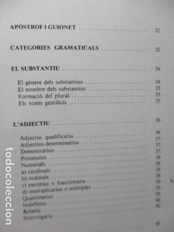Diccionarios de segunda mano: BIBLIOTECA DEL MIL.LENARI DE CATALUNYA - GRAMATICA (en Catalan) - Foto 13 - 119497515