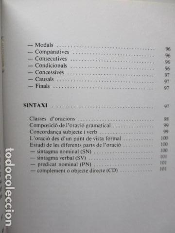 Diccionarios de segunda mano: BIBLIOTECA DEL MIL.LENARI DE CATALUNYA - GRAMATICA (en Catalan) - Foto 19 - 119497515