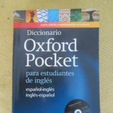 Diccionarios de segunda mano: DICCIONARIO OXFORD POCKET - ESPAÑOL- INGLES / INGLES-ESPAÑOL. Lote 122599759