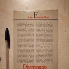 Libri di seconda mano: DICCIONARIO - DE ABREVIADO - FILOSOFIA - POCKET EDHASA. Lote 123399443