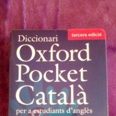 Diccionarios de segunda mano: DICCIONARI OXFORD POCKET CATALÀ. NO TIENE CD-ROM.. Lote 123737123