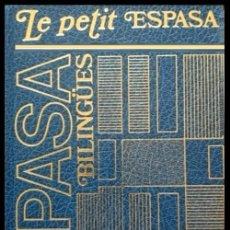 Diccionarios de segunda mano: B1038 - LE PETIT ESPASA. DICCIONARIO. FRANCES / ESPAÑOL - ESPAÑOL / FRANCES.. Lote 128966759