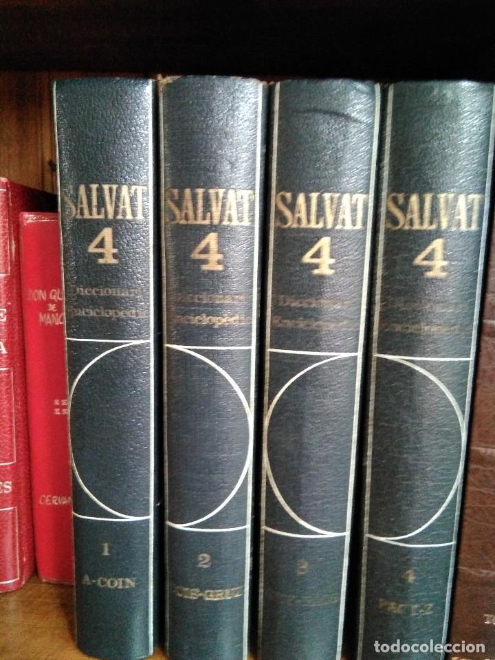 DICCIONARI ENCICLOPÈDIC DE SALVAT (4 TOMOS), EN CATALÁN. EDITADO EN EL AÑO 1968. (Libros de Segunda Mano - Diccionarios)