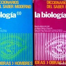 Diccionarios de segunda mano: PROFESOR R. CHAUVIN. LA BIOLOGÍA (I Y II). DICCIONARIOS DEL SABER MODERNO. BILBAO. S/F. Lote 129560311