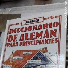Diccionarios de segunda mano: DICCIONARIO DE ALEMAN PARA PRINCIPIANTES.SUSAETA. Lote 130921580