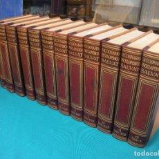 Diccionarios de segunda mano: DICCIONARIO ENCICLOPÉDICO SALVAT 12 TOMOS, COMPLETO. 1964. Lote 131034768