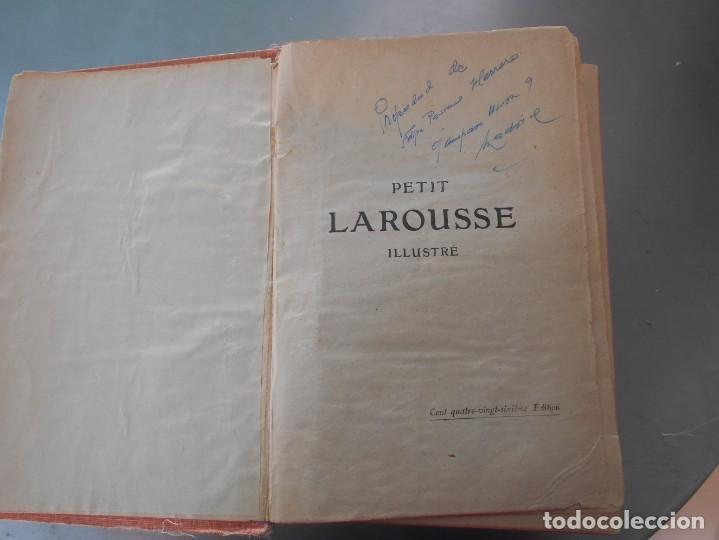 Diccionarios de segunda mano: Petit Larousse Illustré de la Librairie Larousse Paris -Medidas 13x20 cm. 1664 páginas. - Foto 3 - 131852130
