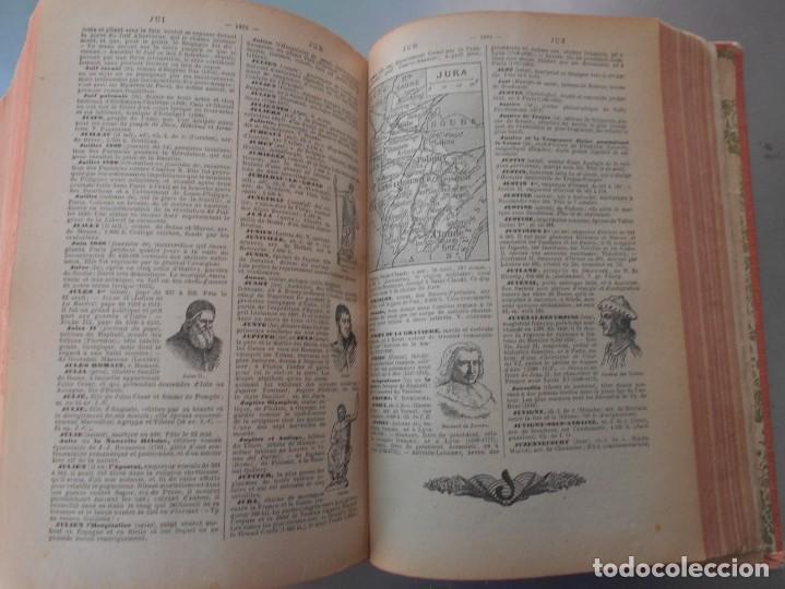 Diccionarios de segunda mano: Petit Larousse Illustré de la Librairie Larousse Paris -Medidas 13x20 cm. 1664 páginas. - Foto 7 - 131852130