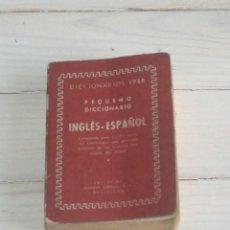 Diccionarios de segunda mano: PEQUEÑO DICCIONARIO - ITER – 1954. Lote 132115894