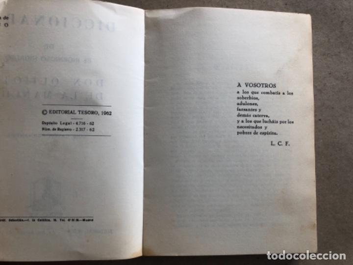 Diccionarios de segunda mano: DICCIONARIO DEL INGENIOSO HIDALGO DON QUIJOTE DE LA MANCHA. LUIS CAYON FERNÁNDEZ. ED. TESORO 1962. - Foto 3 - 132303318