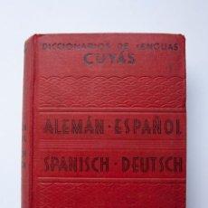 Diccionarios de segunda mano: A185.- DICCIONARIOS DE LENGUAS CUYÁS.- ALEMÁN-ESPAÑOL / SPANISCH-DEUTSCH. Lote 133464118