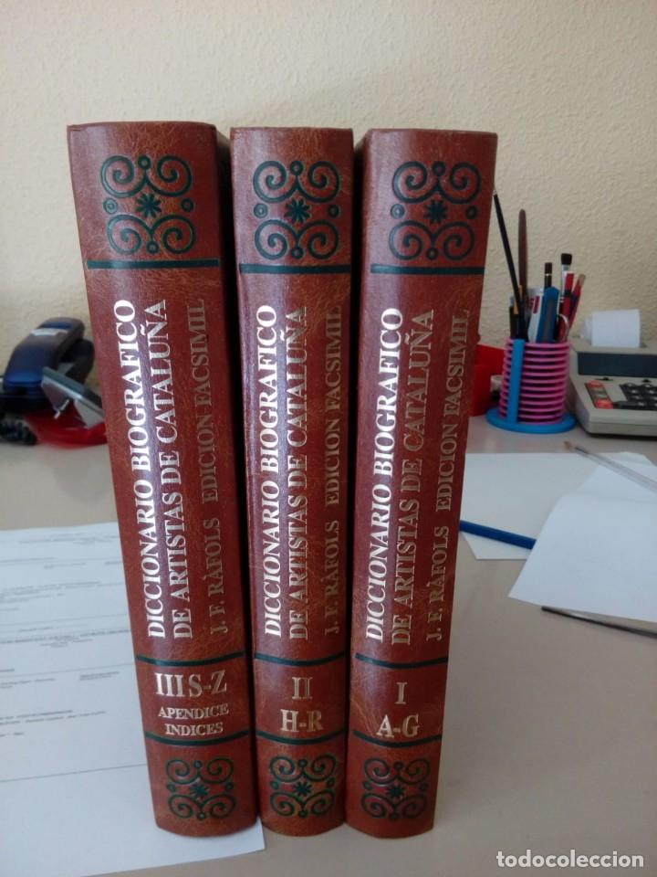 DICCIONARIO BIOGRAFICO DE ARTISTAS DE CATALUÑA, J.F. RAFOLS, EDICION FACSIMIL, 1989 (Libros de Segunda Mano - Diccionarios)