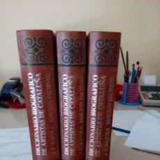 Diccionarios de segunda mano: DICCIONARIO BIOGRAFICO DE ARTISTAS DE CATALUÑA, J.F. RAFOLS, EDICION FACSIMIL, 1989. Lote 134276410