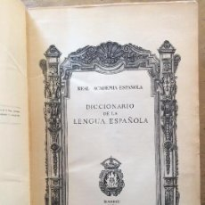 Diccionarios de segunda mano: DICCIONARIO DE LA LENGUA ESPAÑOLA. REAL ACADEMIA DE LA LENGUA. EDICIÓN DE 1956.. Lote 135209582
