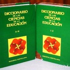 Diccionarios de segunda mano: DICCIONARIO DE LAS CIENCIAS DE LA EDUCACIÓN 2T POR ED. DIAGONAL / SANTILLANA EN MADRID 1984. Lote 135954226