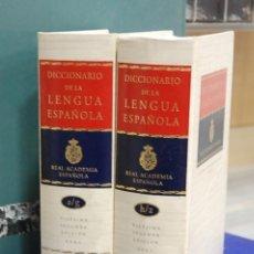 Diccionarios de segunda mano: DICCIONARIO DE LA LENGUA ESPAÑOLA, REAL ACADEMIA ESPAÑOLA. 22º EDICIÓN. 2 TOMOS. Lote 140674725