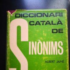 Diccionarios de segunda mano: DICCIONARI CATALÀ DE SINONIMS ALBERT JANÉ -CATALÀ -VALENCIÀ -BALEAR ETC. Lote 137288044