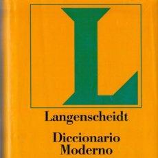 Diccionarios de segunda mano: DICCIONARIO MODERNO ALEMÁN - CIRCULO DE LECTORES. Lote 137664906