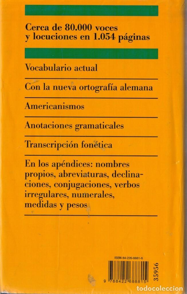 Diccionarios de segunda mano: DICCIONARIO MODERNO ALEMÁN - CIRCULO DE LECTORES - Foto 2 - 137664906