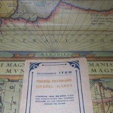 Diccionarios de segunda mano: DICCIONARIOS ITER. PEQUEÑO DICCIONARIO ESPAÑOL-ALEMÁN. RAMÓN SOPENA 1953.. Lote 138667398