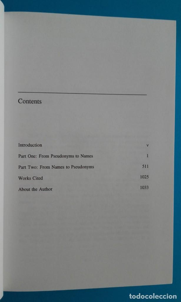 Diccionarios de segunda mano: 20.000 seudónimos hispano-americanos. 20,000 SPANISH AMERICAN PSEUDONYMS. 1997. 1033 pág. - Foto 10 - 140284342