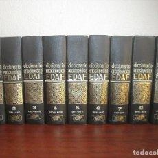 Diccionarios de segunda mano - EDAF -DICCIONARIO ENCICLOPEDICO- 1971 - COMPLETO 9 TOMOS- COMO NUEVO - 160610390