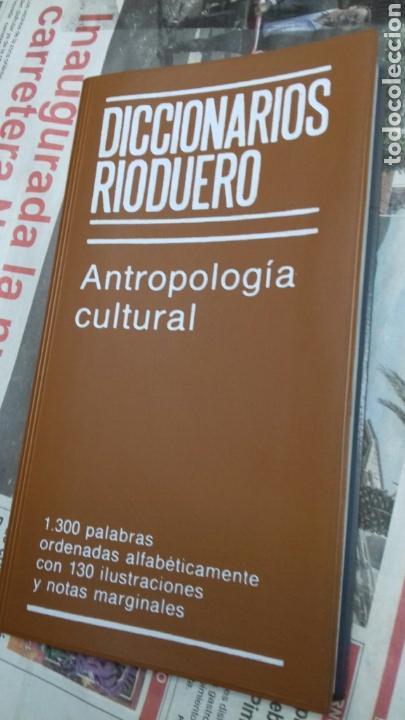 DICCIONARIOS RIODUERO. ANTROPOLOGIA CULTURAL (Libros de Segunda Mano - Diccionarios)