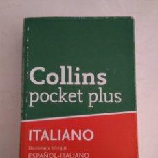 Diccionarios de segunda mano: DICCIONARIO ITALIANO COLLINS POCKET PLUS. Lote 141536704