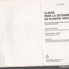Diccionarios de segunda mano: 9913- LIBRO FOTOCOPIA :BIOLOGÍA:CLAVES PARA LA DETERMINACIÓN DE PLANTAS VASCULARES. Lote 293955318