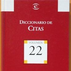 Diccionarios de segunda mano: DICCIONARIO DE CITAS.- ESPASA-CALPE. 2004. EDITADO PARA BIBLIOTECA EL MUNDO. Lote 142856890