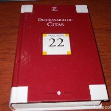 Diccionarios de segunda mano: DICCIONARIO DE CITAS. BIBLIOTECA EL MUNDO 2.004. Lote 142945770