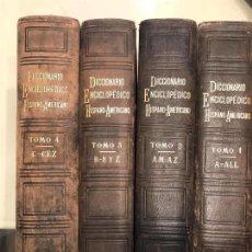 Diccionarios de segunda mano: DICCIONARIO ENCICLOPÉDICO HISPANOAMERICANO, MONTANER Y SIMÓN, 1887. 4 TOMOS A-CEZ.. Lote 143089678