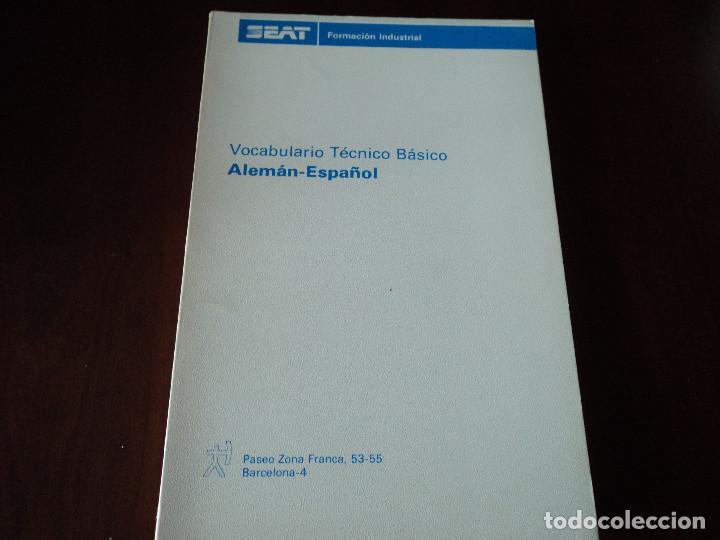 SEAT. VOCABULARIO TÉCNICO BÁSICO ALEMAN ESPAÑOL (Libros de Segunda Mano - Diccionarios)