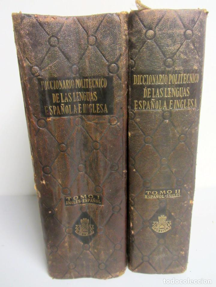 DICCIONARIO POLITÉCNICO DE LAS LENGUAS. ESPAÑOL-INGLÉS INGLÉS-ESPAÑOL. 1ªEDICIÓN 1958. 2 TOMOS (Libros de Segunda Mano - Diccionarios)