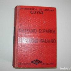 Diccionarios de segunda mano: DICCIONARIO DE LENGUAS CUYÁS ITALIANO -ESPAÑOL SPAGNUOLO-ITALIANO. Lote 149642662