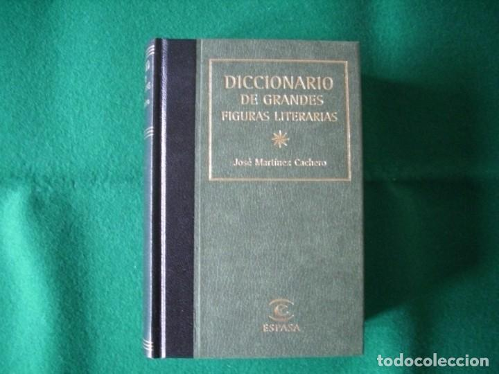 DICCIONARIO DE GRANDES FIGURAS LITERARIAS - JOSÉ MARTÍNEZ CACHERO - ESPASA - AÑO 1998 - SIN USAR (Libros de Segunda Mano - Diccionarios)