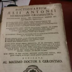 Diccionarios de segunda mano: BJS.DICTIONARIUM AELLI ANTONII.EDT, ACCURATIUS..BRUMART TU LIBRERIA.. Lote 151399854