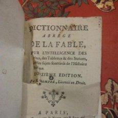Diccionarios de segunda mano: BJS.DICTIONNAIRE ABREGE DE LA FABLE.EDT, DOUZIEME.BRUMART TU LIBRERIA.. Lote 151401434