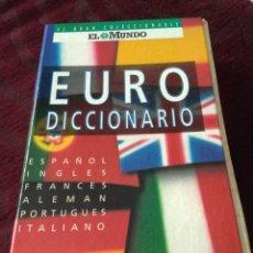Diccionarios de segunda mano: EURO DICCIONARIO EL MUNDO. Lote 152181030