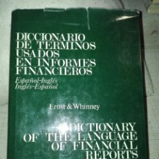 Diccionarios de segunda mano: ESPAÑOL/INGLÉS. INGLÉS/ESPAÑOL. ERNST & WHINNEY....ED. DEUSTO.. Lote 152235208
