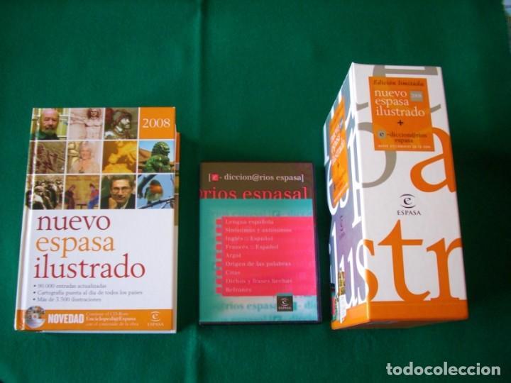 NUEVO ESPASA ILUSTRADO MÁS 9 DICCIONARIOS EN CD - ROM - EDICIÓN LIMITADA - ESPASA - AÑO 2008 (Libros de Segunda Mano - Diccionarios)