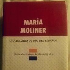 Diccionarios de segunda mano: DICCIONARIO MARÍA MOLINER. ED. GREDOS, 2000.. Lote 154208250