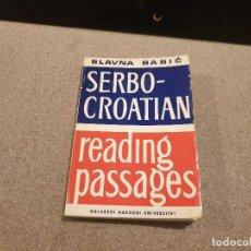 Diccionarios de segunda mano: DICCIONARIO...SERBO-- CROATIAN....READING PASSAGES...1975.... Lote 154663414
