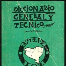 Diccionarios de segunda mano: DICCIONARIO GENERAL Y TECNICO. 1. CASTELLANO - EUSKARA. LUIS Mª MUGICA. PAIS VASCO.. Lote 154957378