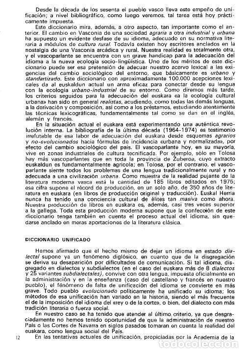 Diccionarios de segunda mano: DICCIONARIO GENERAL Y TECNICO. 1. CASTELLANO - EUSKARA. LUIS Mª MUGICA. PAIS VASCO. - Foto 4 - 154957378