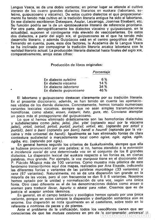 Diccionarios de segunda mano: DICCIONARIO GENERAL Y TECNICO. 1. CASTELLANO - EUSKARA. LUIS Mª MUGICA. PAIS VASCO. - Foto 5 - 154957378